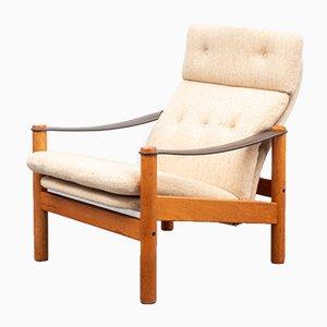 Skandinavischer Sessel mit Gestell aus Teak, 1970er