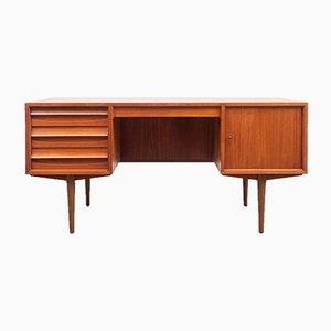Mid-Century Schreibtisch aus Teakfurnier von Lothar Wegner für FW Möbel, 1960er