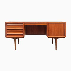 Mid-Century Teak Veneer Desk by Lothar Wegner for FW Möbel, 1960s