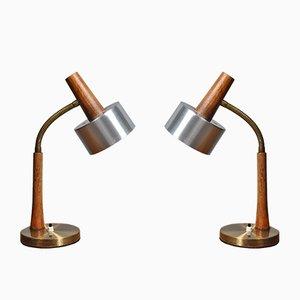 Dänische Schreibtischlampen, 1960er, 2er Set