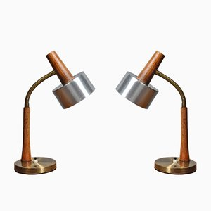 Danish Desk Lamps, 1960s, Set of 2