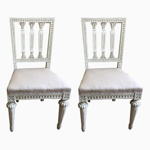 Antique Gustavian Dining Chairs, Set of 2