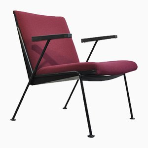 Dutch Oase Purple Armchair by Wim Rietveld for Ahrend De Cirkel, 1950s