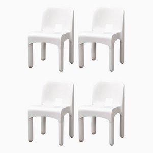 Italienische Mid-Century Modell Universale 4867 Esszimmerstühle von Joe Colombo für Kartell, 4er Set