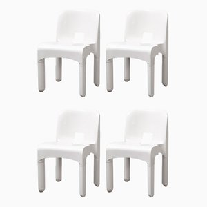 Mid-Century Italian Model Universale 4867 Dining Chairs by Joe Colombo for Kartell, Set of 4