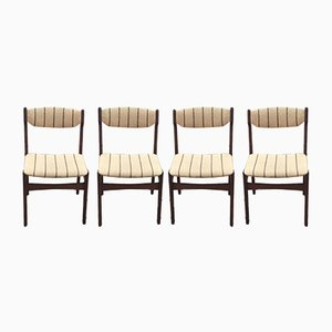 Mid-Century Danish Rosewood Dining Chairs by Erik Buch, Set of 4