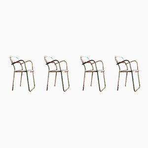Steel Nest-a-Bye Dining Chairs from Sebel, 1940s, Set of 4