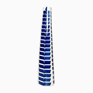 Vase en Céramique Peinte à la Main Bleu Indigo par Karin Björquist pour Gustavsberg, 1950s