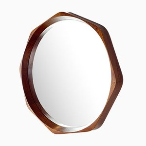 Teak Flower Petal Wall Mirror by Rimbert Sandholdt for Jansen Spejle, 1960s