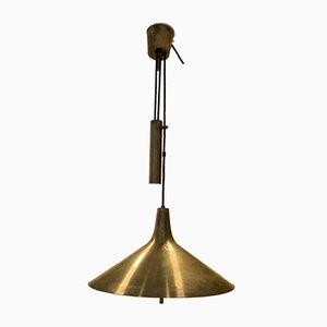 Lampada a contrappeso in ottone di Th. Valentiner, anni '60