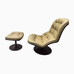 Lounge Chair and Ottoman Set by Georges van Rijck for Beaufort, 1970s