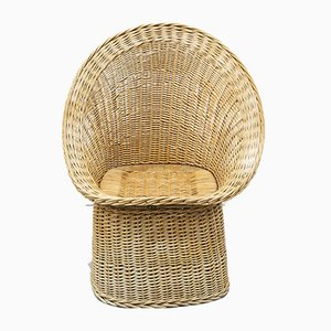 Wicker Side Chair, 1970s