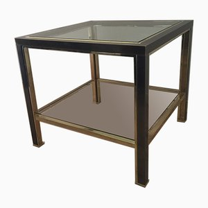 Brushed Steel and Brass Side Table from Belgo Chrom, 1980s