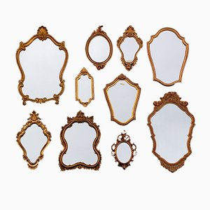 Florentine Style Mirrors, 1970s, Set of 10