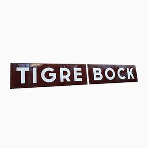 Emailliertes Tigre Bock Bierschild, 1920er
