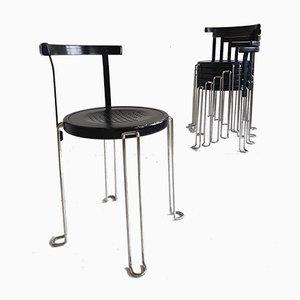 B4 Dining Chairs by Börge Lindau & Bo Lindekrantz for Bla Station, 1980s, Set of 6