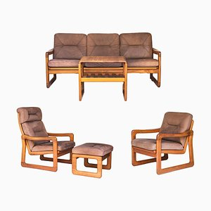 Vintage Teak Living Room Set from Möbelfabrik Holstebro, 1970s, Set of 5