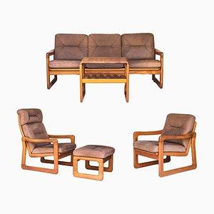 Vintage Wohnzimmergarnitur aus Teak von Möbelfabrik Holstebro, 1970er, 5er Set