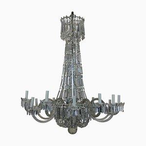 Lámpara de araña en cascada Regency antigua
