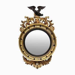Espejo convexo inglés antiguo Regency
