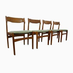 Mid-Century Esszimmerstühle aus Teak von Erik Buch, 4er Set