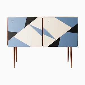 Melamine Wood Sideboard, 1950s