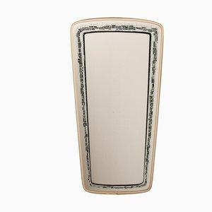 Mid-Century Spiegel mit Rahmen aus Messing, 1950er