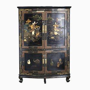 Black Lacquer Corner Cabinet, 1949