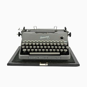 Machine à Écrire Portable Mid-Century de Rheinmetall Borsig AG