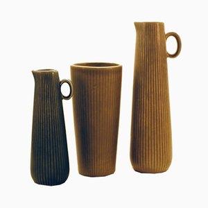 Ritzi Vasen von Gunnar Nylund für Rörstrand, 1950er, 3er Set