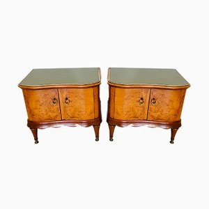Mid-Century Wooden Dressers, 1950s, Set of 2