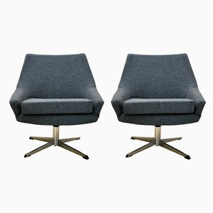 Mid-Century Swivel Chairs, 1960s, Set of 2