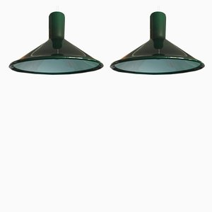 P & T Pendant Lamps by Michael Bang for Holmegaard, 1970s, Set of 2
