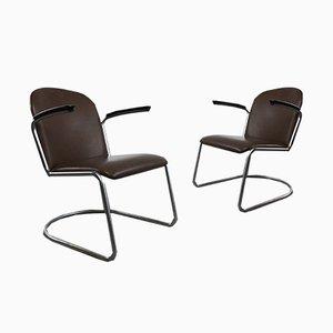 413 Sessel von W.H. Gispen für Gispen, 1950er, 2er Set