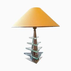 Lampe de Bureau en Nickel Plaqué de Desny, années 30
