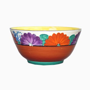 Vintage Art Deco Gayday Bowl by Clarice Cliff for Newport Pottery