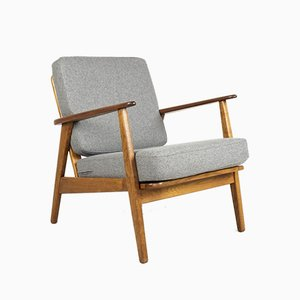 Danish Teak and Oak Easy Chair, 1960s