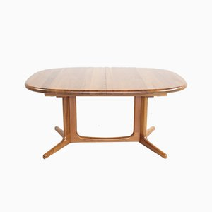 Oval Danish Teak Dining Table from Glostrup, 1960s