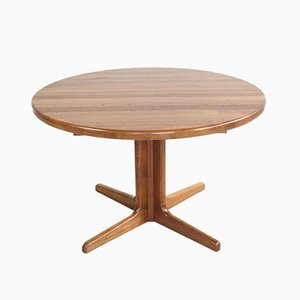 Round Teak Danish Dining Table, 1960s