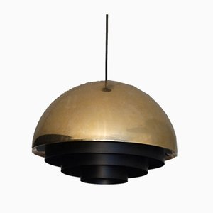 Brass Middle Ceiling Lamp by Johannes Hammerborg for Fog & Mørup, 1960s