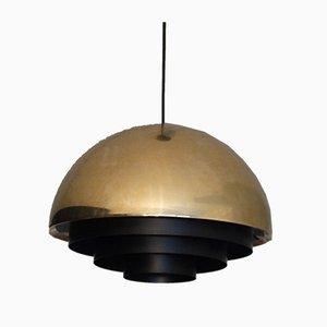 Lampada da soffitto Mid-Century in ottone di Johannes Hammerborg per Fog & Mørup, anni '60
