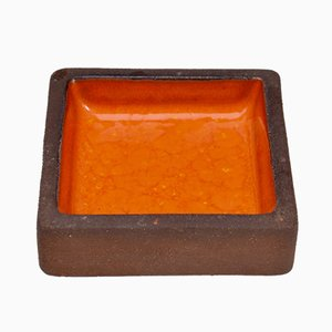 Small Orange Stoneware Bowl from Knabstrup, 1960s