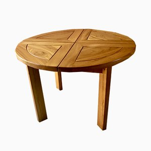 Round Elm Dining Table, 1970s