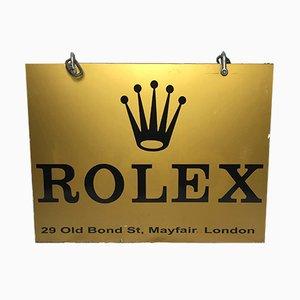 Cartel de tienda Rolex vintage, años 70