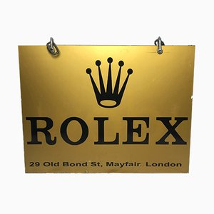 Vintage Rolex Shop Display Wall Sign, 1970s