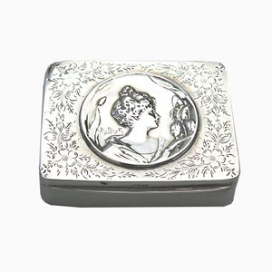 Art Nouveau Silver Box by P Bryk for John Rose, 1902