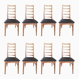 Leather Dining Chairs by Niels Koefoed, 1960s, Set of 8