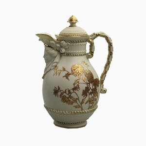Porcelain Lidded Mask Jug by Royal Worcester for Royal Worcester, 1889
