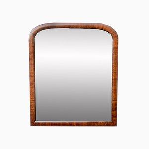 Specchio da parete con cornice in mogano, anni '30