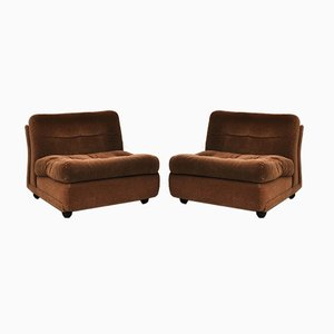 Amanta Armchairs by Mario Bellini for B&B Italia / C&B Italia, 1970s, Set of 2